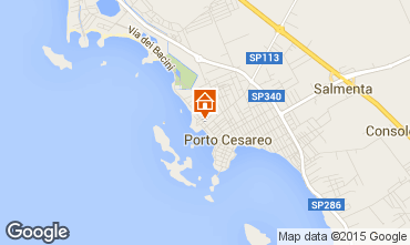 Karte Porto Cesareo Appartement 70791