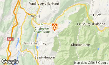 Karte Alpe du Grand Serre Studio 58119