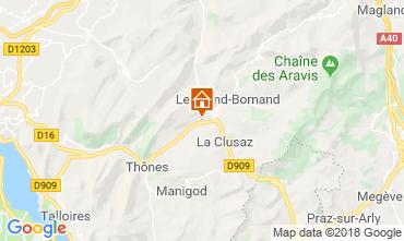 Karte La Clusaz Chalet 117139