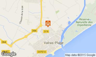 Karte Valras-Plage Mobil-Home 81310