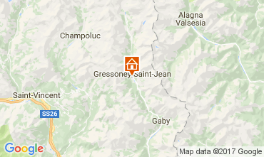 Karte Gressoney Saint Jean Studio 110114