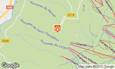 Karte Les Arcs Chalet 213