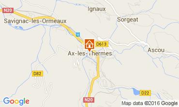 Karte Ax Les Thermes Appartement 68456