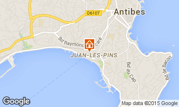 Karte Juan les Pins Appartement 78148