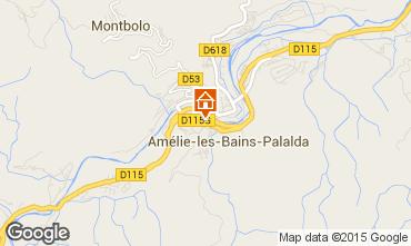 Karte Amélie-Les-Bains Studio 102100