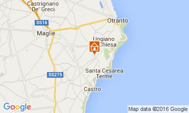 Karte Santa Cesarea Terme Appartement 104130