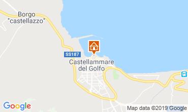 Karte Castellammare del Golfo Appartement 80207