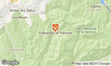 Karte Pralognan la Vanoise Appartement 93265