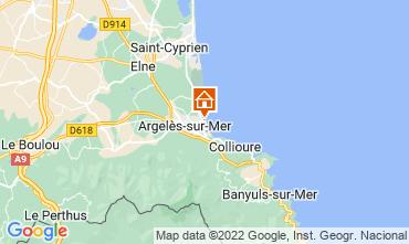 Karte Argeles sur Mer Appartement 78200