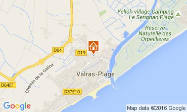 Karte Valras-Plage Mobil-Home 103527