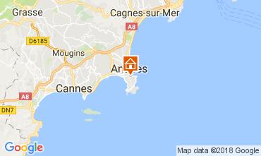 Karte Juan les Pins Appartement 113037