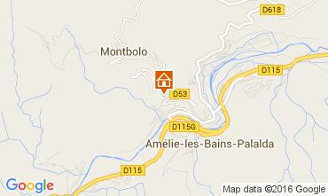 Karte Amélie-Les-Bains Appartement 105638