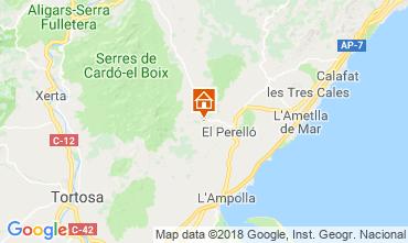 Karte La Ametlla de Mar Ferienunterkunft auf dem Land 110680
