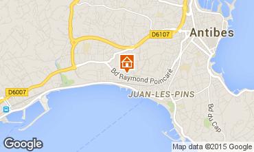 Karte Juan les Pins Studio 62512