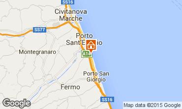 Karte Porto San Giorgio Bungalow 85039