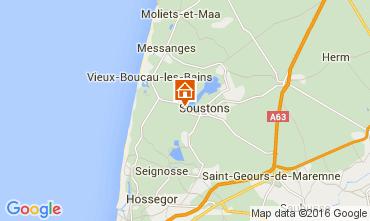 Karte Soustons Mobil-Home 30930