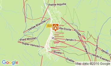 Karte Les 2 Alpes Studio 106694