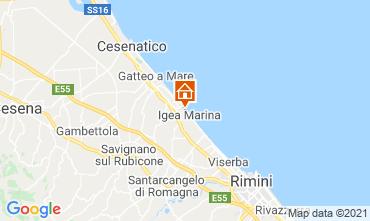 Karte Bellaria Igea Marina Appartement 107978