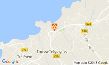 Karte Trevou Treguignec Ferienunterkunft auf dem Land 113999