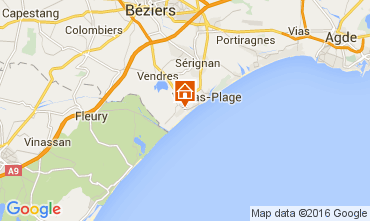 Karte Valras-Plage Haus 104263