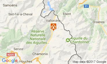 Karte Chamonix Mont-Blanc Chalet 706