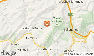 Karte Le Grand Bornand Appartement 101025