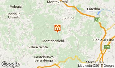 Karte Siena Ferienunterkunft auf dem Land 84892