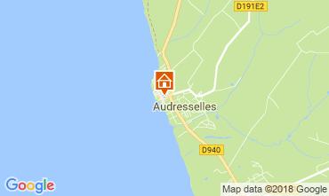 Karte Audresselles Ferienunterkunft auf dem Land 115601