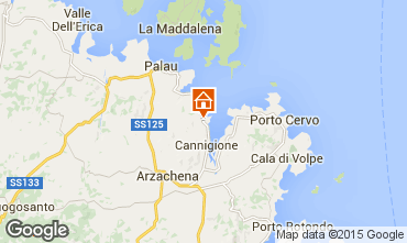 Karte Porto Cervo Appartement 75739