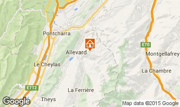 Karte Allevard les Bains Studio 80615
