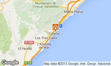 Karte La Ametlla de Mar Villa 80569