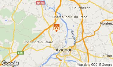 Karte Villeneuve lez Avignon Ferienunterkunft auf dem Land 86441