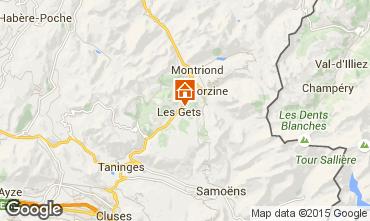 Karte Les Gets Chalet 80003