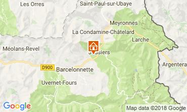 Karte Jausiers Chalet 113520
