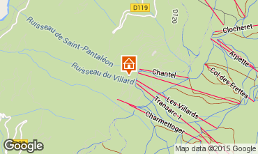 Karte Les Arcs Appartement 39399