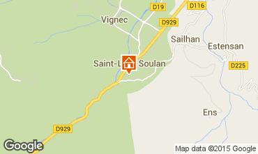 Karte Saint Lary Soulan Studio 4436