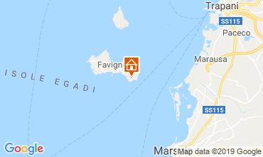 Karte Favignana Appartement 115691