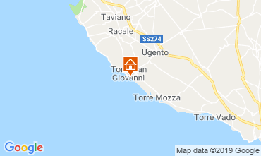 Karte Ugento - Torre San Giovanni Appartement 104132