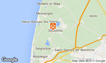 Karte Soustons Villa 77329