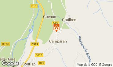 Karte Saint Lary Soulan Ferienunterkunft auf dem Land 61378