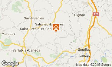 Karte Salignac-Eyvignes Haus 83784