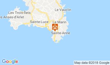 Karte Sainte Anne (Martinique) Bungalow 8125