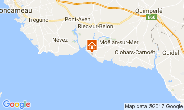 Karte Moelan sur Mer Villa 109152
