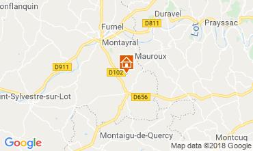 Karte Tournon d'Agenais Ferienunterkunft auf dem Land 117004