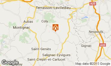 Karte Sarlat Ferienunterkunft auf dem Land 30246