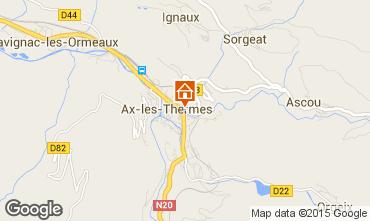 Karte Ax Les Thermes Appartement 52894