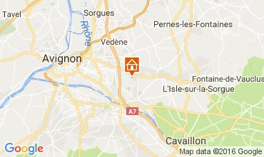 Karte Châteauneuf-de-Gadagne Ferienunterkunft auf dem Land 106637