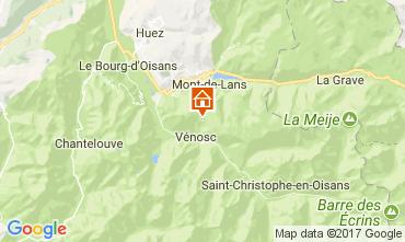 Karte Les 2 Alpes Appartement 111830