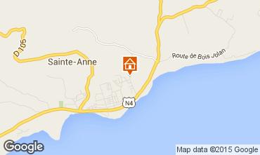 Karte Sainte Anne (Guadeloupe) Ferienunterkunft auf dem Land 71841