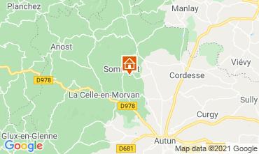 Karte Autun Ferienunterkunft auf dem Land 112325